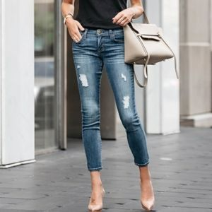 Current/Elliot Women's Stiletto Distressed Jeans